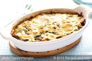 Mother's Day Ham and Cheese Breakfast Casserole