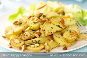 Fingerling Potatoes with Hazelnut and Sage