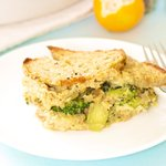 Breakfast Broccoli Bread Pudding