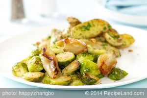 Roasted Brussels Sprouts with Caramelized Shallots