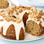 Fresh Apple Cake with Caramel and Walnuts