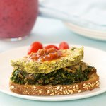 Open Face Spinach Egg Sandwich