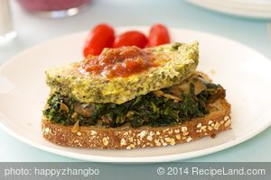 Open Face Spinach Egg Sandwich
