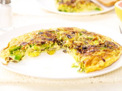 Brussels Sprouts and Mushroom Frittata