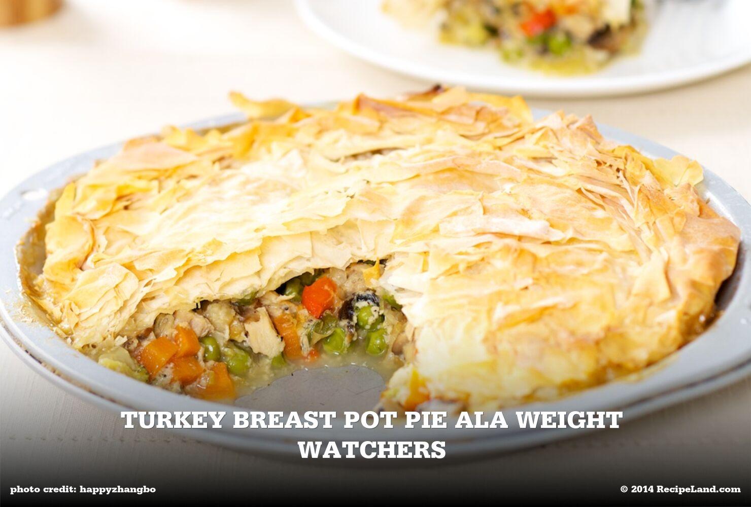 Turkey Breast Pot Pie Ala Weight Watchers