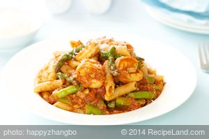 Shrimp, Asparagus, and Penne Pasta