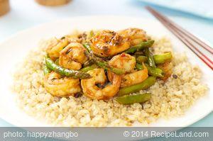 Asparagus Shrimp Stir Fry