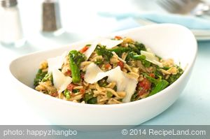 Pasta with Rapini and Garlicky Tomato Sauce