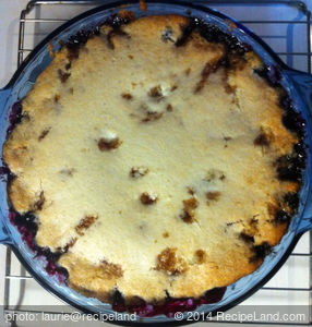 Impossible Blueberry Pie