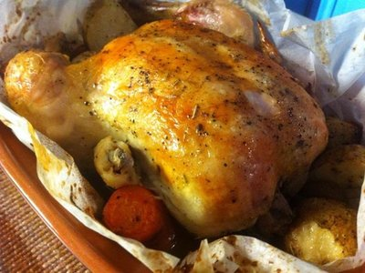 Roasted Chicken with 44 Cloves of Garlic (Clay-Pot)