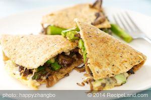 Asparagus Mushroom Quesadilla