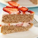 A perfect dessert when strawberries are in season.