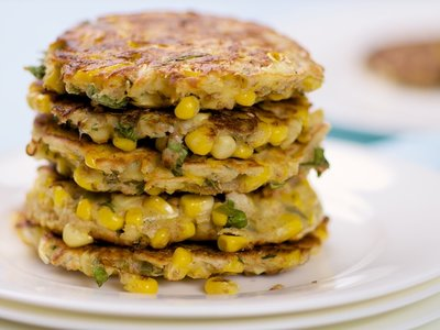 Corn and Basil Pancakes