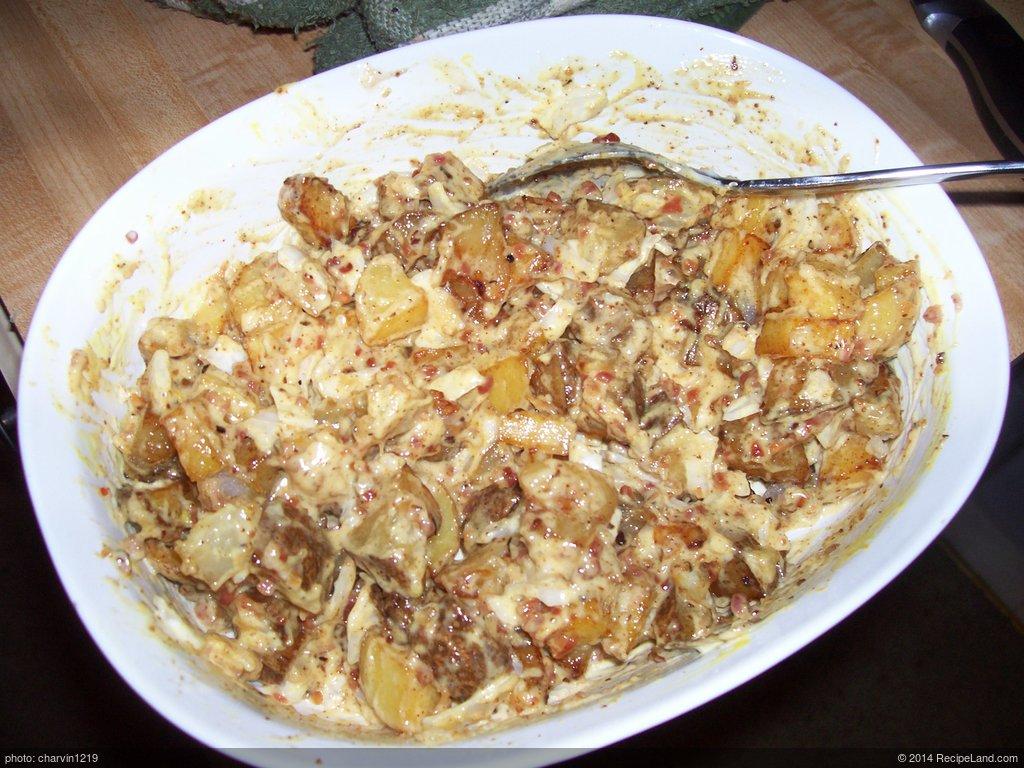 Fried Potato and Bacon Salad