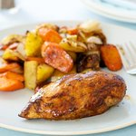 Balsamic Roasted Chicken Breast with Carrots and Potatoes