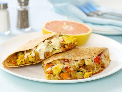 Zucchini, Sweet Potato and Red Bell Pepper Quesadillas