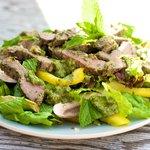 Warm Lamb Salad with Mixed Greens
