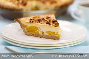 Custard Peach Pie