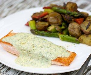 Salmon in Dill Sauce