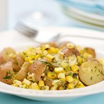 Dilled Potato and Grilled Corn Salad