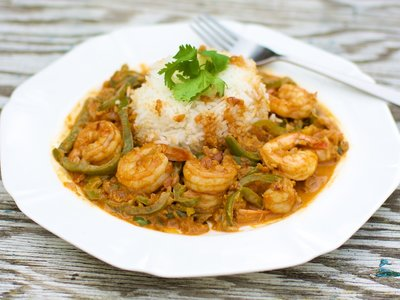 Creamy Curried Shrimp