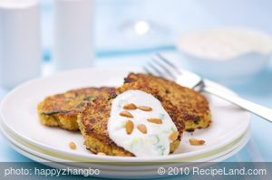 Mini Quinoa Pancakes with Lemon Yogurt Sauce