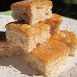 Salted Caramel Rice Krispies Squares