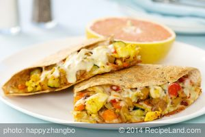 Sweet Potato, Zucchini and Tomato Quesadillas