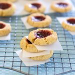 Christmas Lemon Raspberry Thumbprint Cookies