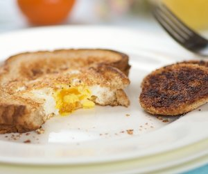 Egg in the Hole with Extra Cinnamon on the Hole!