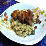 Risotto with Chicken Livers, Citrus Zest and Duck Breast