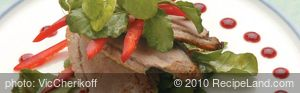 Paperbark Smoked Duck with Lllawarra Plum Sauce