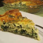 Deep Dish Spinach and Cheddar Quiche
