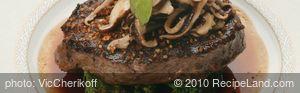 Ribeye Steak with Broccolini, Shitake Mushrooms and Wattleseed Jus