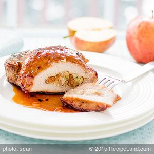 Glazed Apple-Stuffed Pork Chops