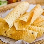 Indian flavoured papadum (papad)