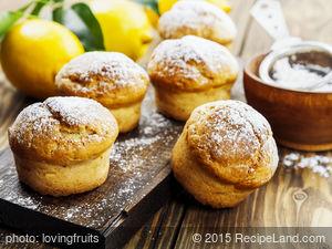 Fresh Lemon and Ginger Muffins