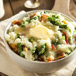 Colcannon - Traditional Irish potatoes and kale dish