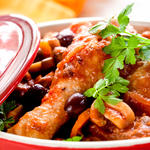 Chicken legs and black bean cassoulet
