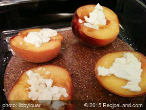 Baked Peaches with Feta Recipe