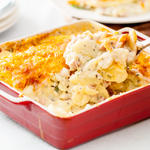 Scalloped potatoes and ham casserole - serving
