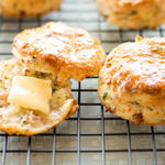 Golden Potato Scones with Parmesan and Pancetta