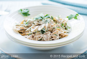 Easy Herbed Pasta for Two