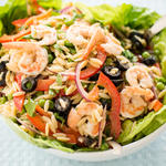 Cold Orzo Pasta Salad with Shrimp