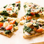 Quick and Easy Spinach and Feta Pita Bake