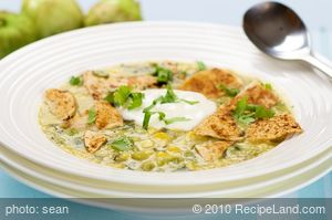 Tomatillo and Corn Soup