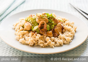 Shrimp (Chicken) and Sugar Snap Pea Stir Fry