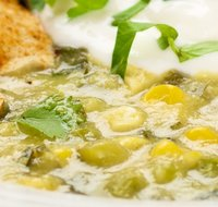 Tomatillo and Corn Soup