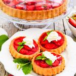 Fresh Strawberry and Citrus Mascarpone Tart with Port Glaze