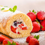Strawberries 'N Cream Cake Roll